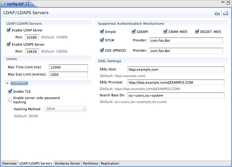 ADS 2 0 configuration — Apache Directory